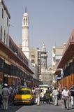 Día pacífico en vía los rectos, Damasco, Siria Imagenes de archivo
