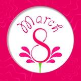 Día para mujer feliz del vector 8 de marzo Imágenes de archivo libres de regalías