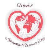 Día para mujer internacional Plantillas del vector del color para la tarjeta, el cartel, el aviador y otros stock de ilustración