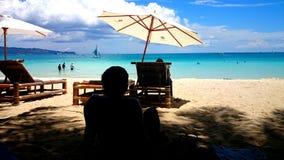 Día perezoso en una playa Fotografía de archivo