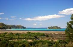 Día perfecto de la playa en Abel Tasman Fotografía de archivo libre de regalías