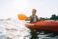 Día perfecto para kayaking Fotografía de archivo libre de regalías