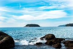 Día por la costa Imagenes de archivo