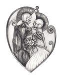 Día punky del cráneo de la boda del arte de los muertos libre illustration