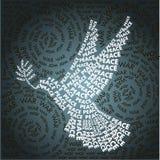 Día relacionado en la forma del símbolo de paz Fotografía de archivo