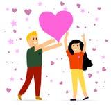 Día romántico de los pares stock de ilustración