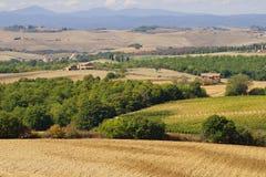 Día soleado de septiembre en Toscana Italia Foto de archivo libre de regalías