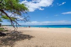 Día soleado en la playa grande, Maui, HI Imágenes de archivo libres de regalías