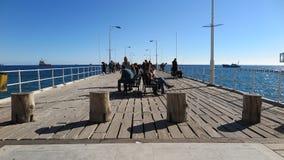 Día soleado en Molos Limassol, Chipre imagen de archivo libre de regalías