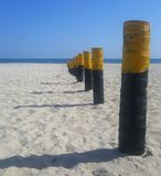 Día soleado hermoso de la playa Fotos de archivo libres de regalías