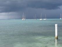 Día tempestuoso en el mar Imágenes de archivo libres de regalías