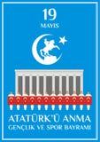 Día Turquía de la juventud stock de ilustración