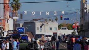 Día Venice Beach que establece el tiro metrajes