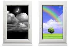 Día y noche stock de ilustración