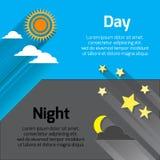 Día y noche Imágenes de archivo libres de regalías
