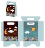Día y noche ciudad El bolso empaqueta el modelo libre illustration