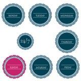 Días coloreados de la semana Imagen de archivo libre de regalías