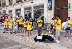 Días de celebración y de partido en Málaga Andalucía España Imágenes de archivo libres de regalías