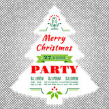 Días de fiesta aviador de la Navidad o fondo del extracto del vector del diseño del cartel Foto de archivo