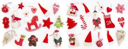 Días de fiesta blancos del fondo de la decoración de la Navidad Fotos de archivo libres de regalías