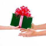 Días de fiesta, celebraciones, presente, la Navidad, concepto del Año Nuevo Cl Imagen de archivo