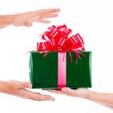 Días de fiesta, celebraciones, presente, la Navidad, concepto del Año Nuevo Cl Fotografía de archivo libre de regalías