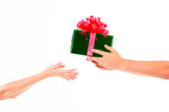 Días de fiesta, celebraciones, presente, la Navidad, concepto del Año Nuevo Cl Fotos de archivo