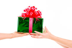 Días de fiesta, celebraciones, presente, la Navidad, concepto del Año Nuevo Cl Fotos de archivo libres de regalías