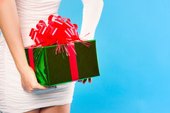 Días de fiesta, celebraciones, presente, la Navidad, concepto del Año Nuevo Cl Imagen de archivo libre de regalías