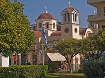 Días de fiesta de Agios Nikolaos Crete Greece imagen de archivo