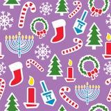 Días de fiesta de invierno inconsútiles Imagen de archivo libre de regalías