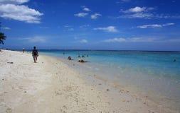 Días de fiesta de la playa en el Océano Índico Imagen de archivo