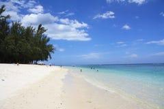 Días de fiesta de la playa en Mauricio Fotografía de archivo