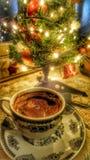 días de fiesta del coffe de la Navidad Imagenes de archivo
