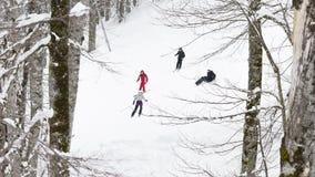 Días de fiesta del esquí en las montañas de Sochi Imagen de archivo libre de regalías