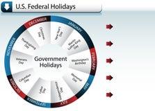 Días de fiesta del gobierno federal de los E.E.U.U. Fotos de archivo libres de regalías