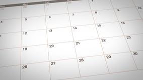 Días de fiesta del tiempo de primavera marcados en calendario ilustración del vector