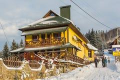 Días de fiesta Dreamlike en los Cárpatos, Ucrania Fotografía de archivo libre de regalías