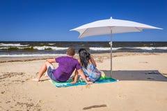 Días de fiesta en el mar Báltico Fotografía de archivo libre de regalías