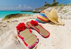 Días de fiesta en la playa del Caribe Imagenes de archivo