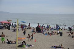 Días de fiesta en playa fotografía de archivo