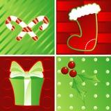 Días de fiesta en verde y rojo libre illustration
