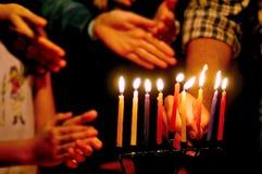 Días de fiesta judíos Hanukkah fotos de archivo