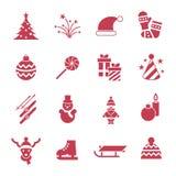 Días de fiesta de la Navidad del vector de Digitaces y del Año Nuevo fijados Imagen de archivo