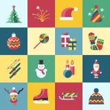 Días de fiesta de la Navidad del vector de Digitaces y del Año Nuevo fijados Fotos de archivo