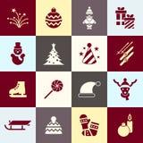Días de fiesta de la Navidad del vector de Digitaces y del Año Nuevo fijados Imágenes de archivo libres de regalías