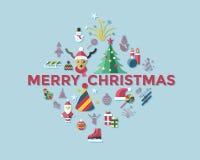 Días de fiesta de la Navidad del vector de Digitaces y del Año Nuevo fijados Fotografía de archivo libre de regalías