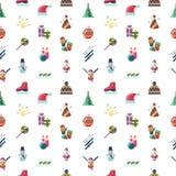 Días de fiesta de la Navidad del vector de Digitaces y del Año Nuevo fijados Fotografía de archivo