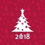 Días de fiesta de la Navidad del vector de Digitaces y del Año Nuevo fijados Imagenes de archivo