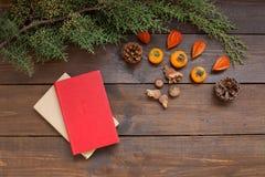 Días de fiesta de los regalos del Año Nuevo del árbol de navidad del fondo de la Navidad del invierno foto de archivo libre de regalías